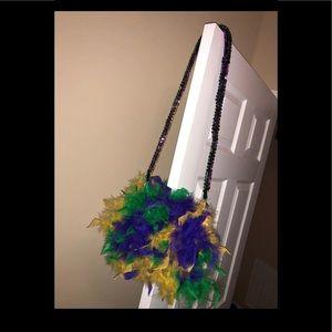 Custom Made Mardi Gras Crossbody Fur